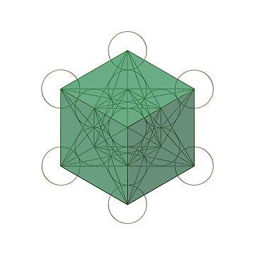Hexahedron & Metatron's Cube by JohnGirvan