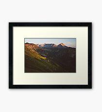 Sunset valley Framed Print