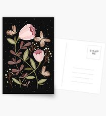 Flowers and butterflies Postcards