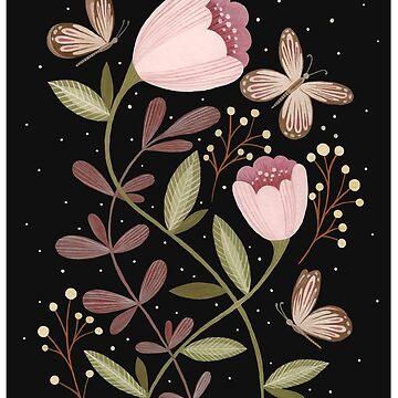 Flores y mariposas de Laorel