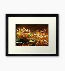 Shanghai Glow Framed Print