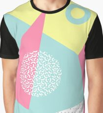 Geometric pattern in memphis 80s style. Graphic T-Shirt