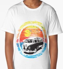 VW / Volkswagen Kombi Sunset Design Long T-Shirt