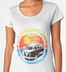 VW / Volkswagen Kombi Sunset Design Women's Premium T-Shirt