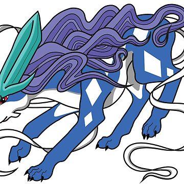Suicune Digital Drawing by ArkainStudios