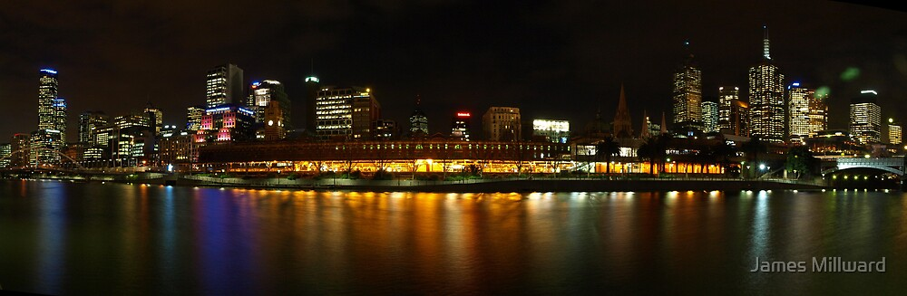 Melbourne at night by James Millward