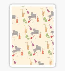 Instruments pattern Sticker