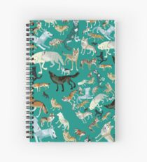 Wolves of the World (Green pattern) Cuaderno de espiral