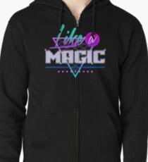 Like a Magic (Black Background) Zipped Hoodie