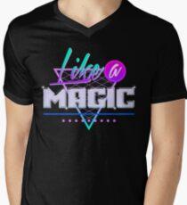 Like a Magic (Black Background) Men's V-Neck T-Shirt
