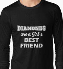 Diamonds Are A Girl's Best Friend Long Sleeve T-Shirt
