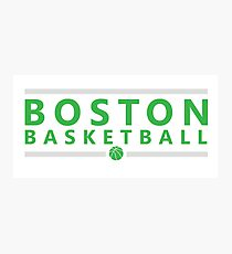 Boston Basketball Photographic Print