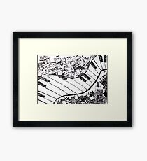Music. Love.  Framed Print