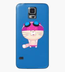 Nette Katze geht schwimmen Hülle & Skin für Samsung Galaxy