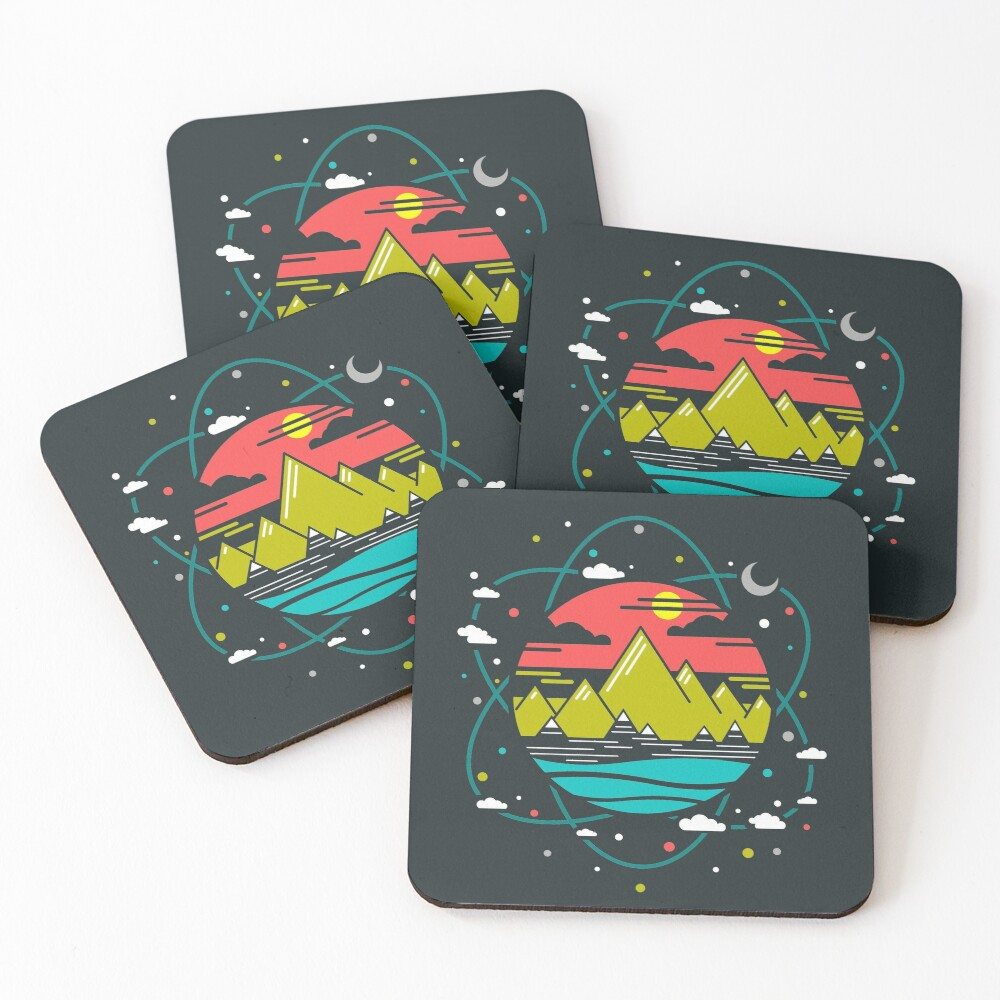 Isotope of Life Coasters (Set of 4)