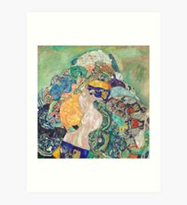Baby (Cradle) 1917 - 1918 Gustav Klimt Art Print