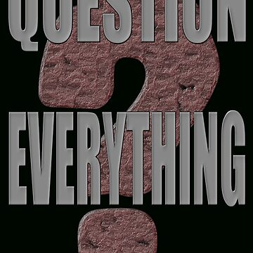 QUESTION EVERYTHING by PapaSquatch