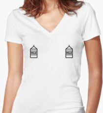 MILK CARTONS | The Boob Series Collective Women's Fitted V-Neck T-Shirt