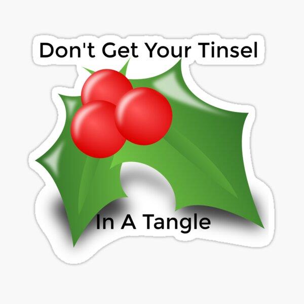 Tinsel Tangling Sticker