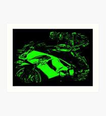 Green Ninja Art Print