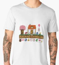 Animal Crossing Pixel house Men's Premium T-Shirt