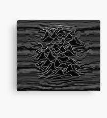 Black and white illustration - sound wave graphic  - black  Canvas Print