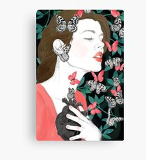 Butterflies // you make my heart flutter Canvas Print
