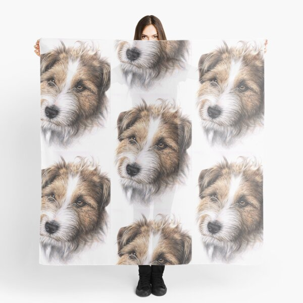Jack Russell Terrier Portrait Tuch