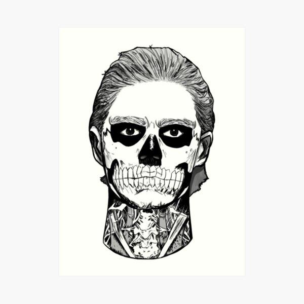 Skull Boy. Art Print