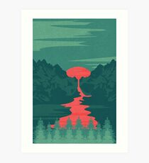 The Red River Art Print
