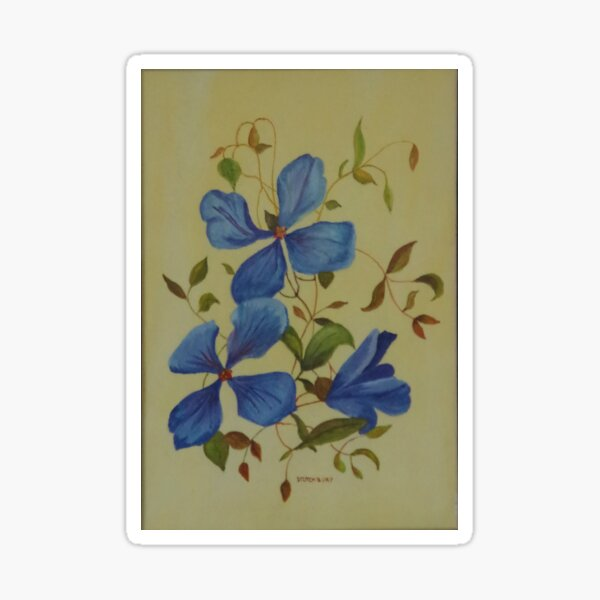 Clematis Watercolour Sticker