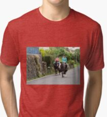The Pace Of Village Life Tri-blend T-Shirt