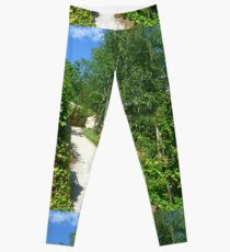 *A Country Path in a Country Garden - Daylesford, Vic. Australia Leggings