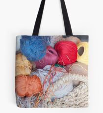 wool in basket Tote Bag