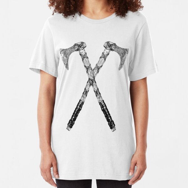 Warrior Viking Axe Slim Fit T-Shirt
