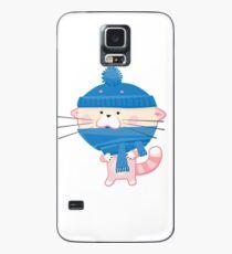 Nette Katze bereit zur Winterzeit Hülle & Skin für Samsung Galaxy