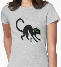 Peep show (s) off retro kitty cat! Women's Fitted T-Shirt