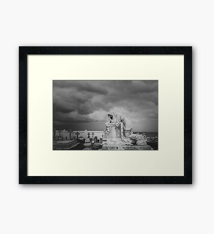 One must not be defeated... Framed Print