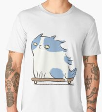 Speed Demon - Skateboarding Kitty Cat Men's Premium T-Shirt