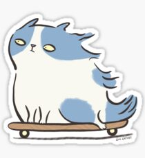 Pegatina Speed Demon - Gato del gatito que anda en monopatín