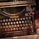 Steampunk - Just an ordinary typewriter  by Michael Savad