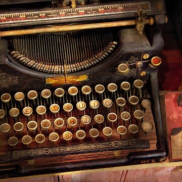 Steampunk - Just an ordinary typewriter  by mikesavad