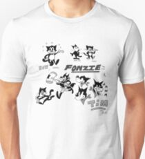 Fonzie the Cat and Tim the Wolf T-Shirt