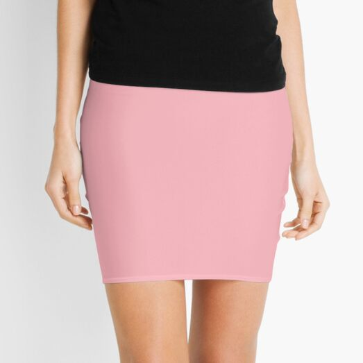 BEAUTIFUL COLORS - PLAIN LIGHT PINK - OVER 80 SHADES OF PINK AT OZCUSHIONS Mini Skirt