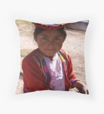 Pisac Young Girl Throw Pillow