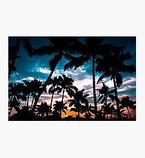 Lámina fotográfica Palmeras sueño de verano