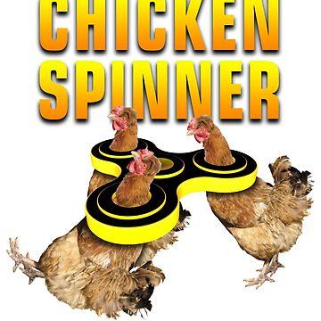 Chicken Fidget Spinner by Delpieroo