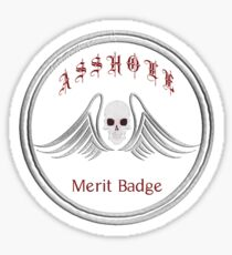 Asshole Merit Badge Sticker