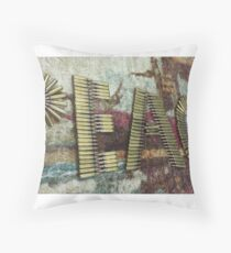 Bullet peace Throw Pillow