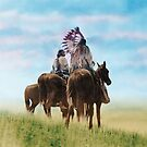 Cheyenne Warriors on the Great Plains - American Indians by DanKeller